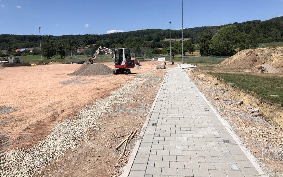 Baufortschritt Kunstrasenplatz