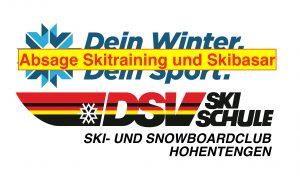 Absage Skitraining und Skibasar